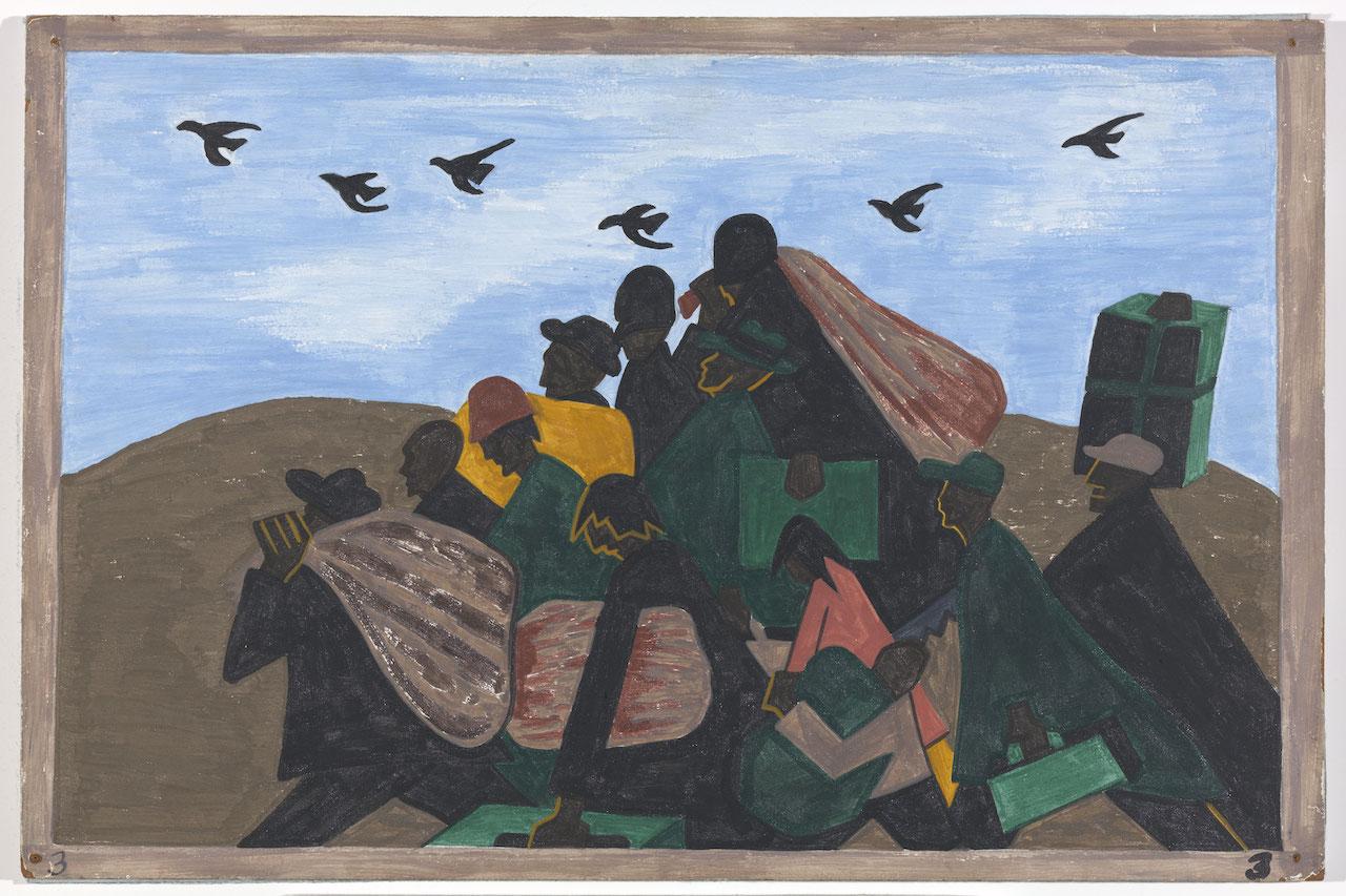 JACOB LAWRENCE, Panel 3, 1940-41, 18x12