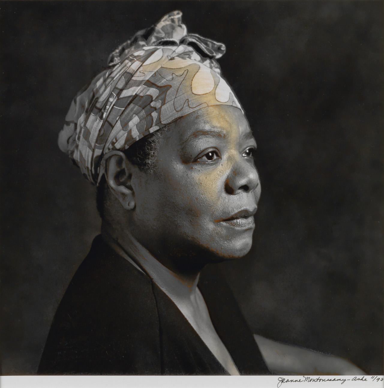 "Jeanne Moutoussamy-Ashe, ""Maya Angelou,"" silver print, 1993"