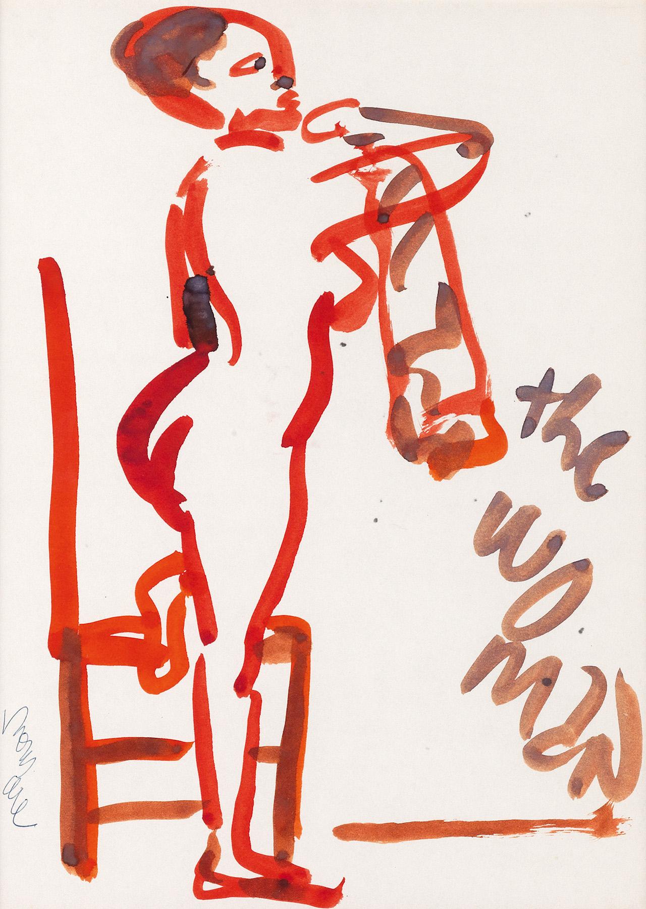 """Romare Bearden, """"The Woman,"""" watercolor, circa 1985"""
