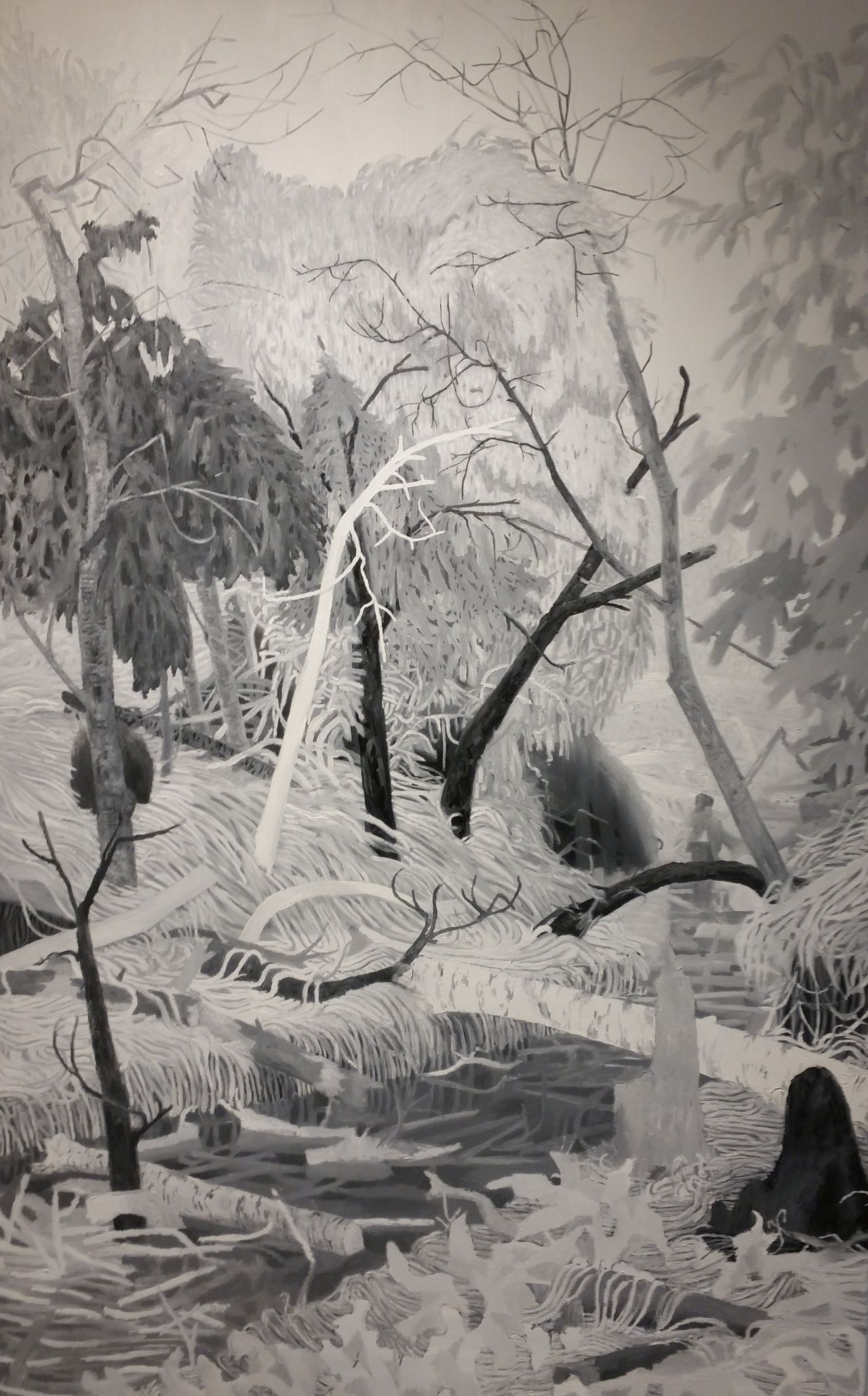 "Joseph Noderer, Bigfoot Creek, 2013, oil on canvas, 78"" x 50"""