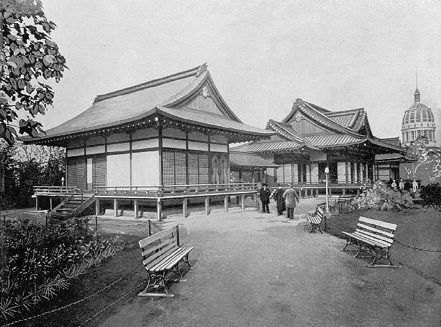 The Phoenix Pavilion, or Ho-o-den, at the 1893 World's Columbian Exposition (photo via Wikipedia) (click to enlarge)