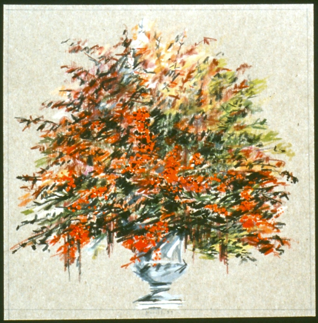 """11.19.99; 7 1/2"""" x 7 1/2""""; collection of Janet Mavec & Wayne Nordberg; colored pencil on paper"""