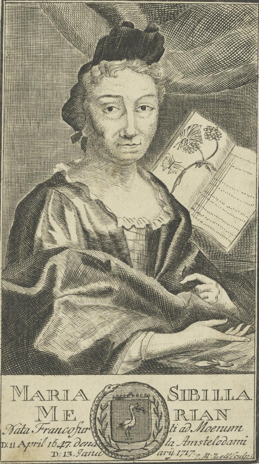 Portrait of Maria Sibylla Merian (via Leipzig University Library/Flickr)