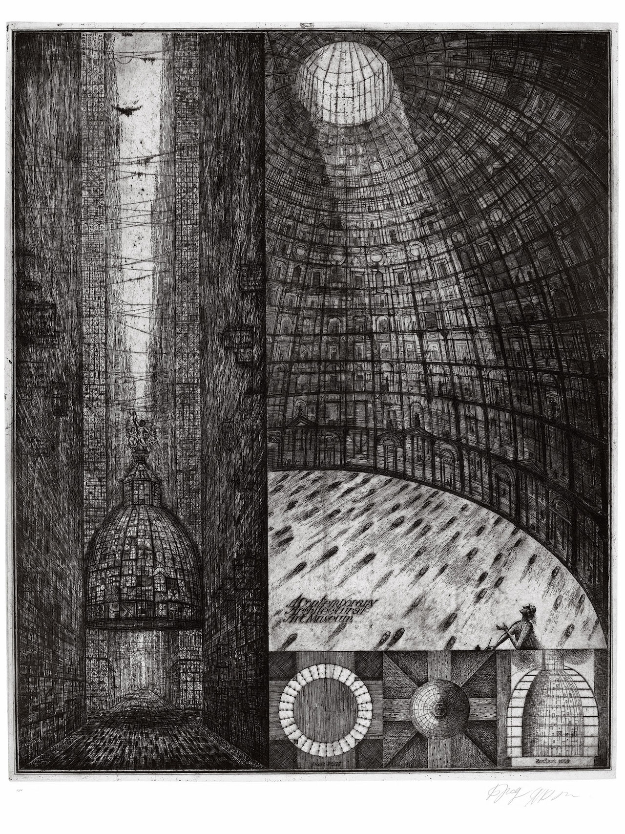 "Alexander Brodsky and Ilya Utkin, ""Contemporary Architectural Art Museum"" (1988/90) (courtesy of Ronald Feldman Fine Arts Inc)"