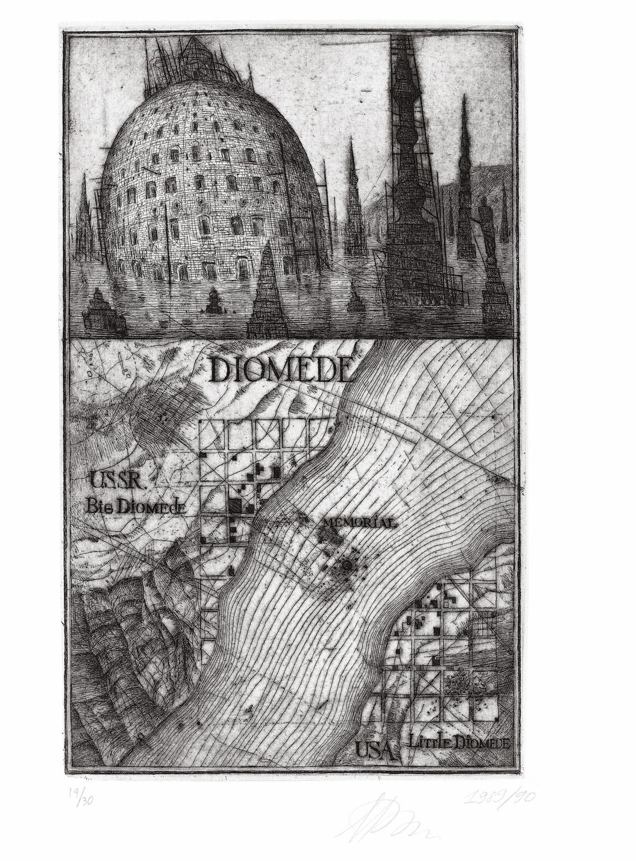 "Alexander Brodsky and Ilya Utkin, ""Diomede"" (1989/90) (courtesy of Ronald Feldman Fine Arts Inc)"