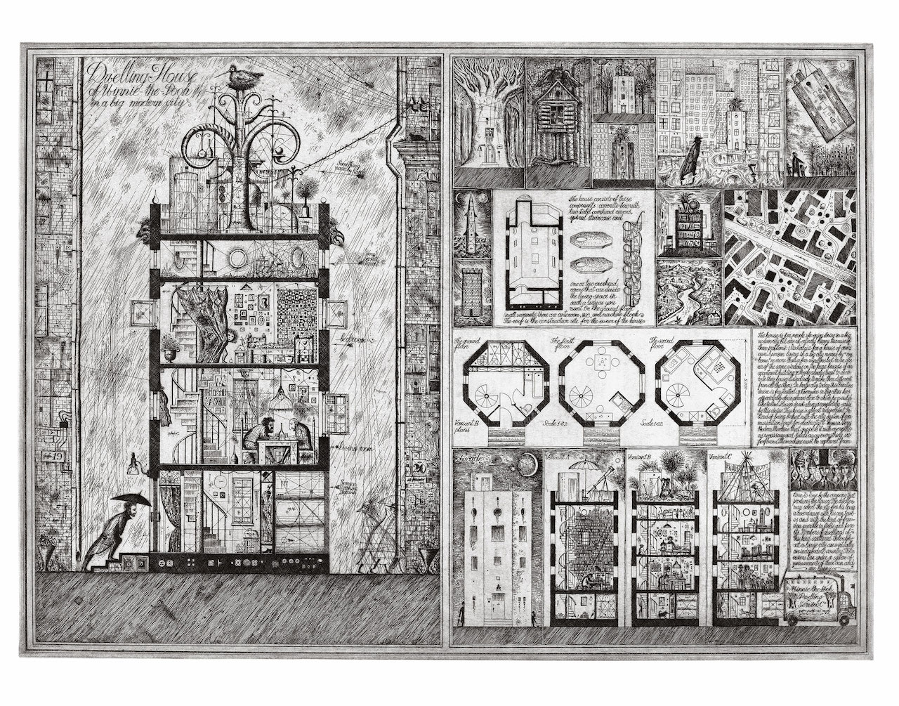 "Alexander Brodsky and Ilya Utkin, ""Dwelling House of Winnie-the-Pooh"" (1990) (courtesy of Ronald Feldman Fine Arts Inc)"