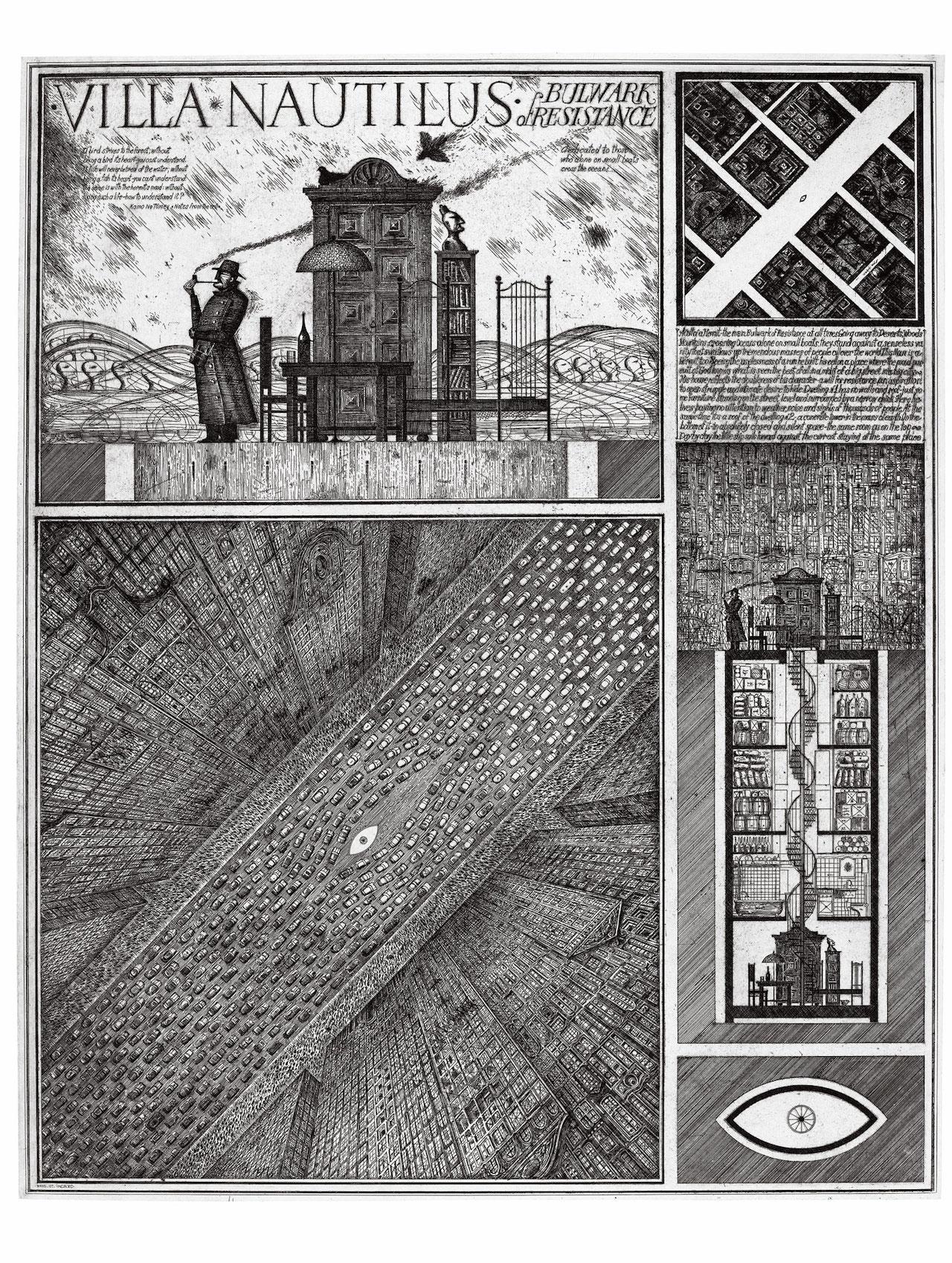 "Alexander Brodsky and Ilya Utkin, ""Villa Nautilus"" (1990) (courtesy of Ronald Feldman Fine Arts Inc)"