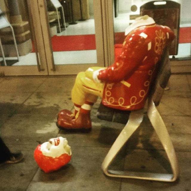 The Museum of Broadcast Communications's headless Ronald McDonald statue (photo by @mattystruck/Instragram)