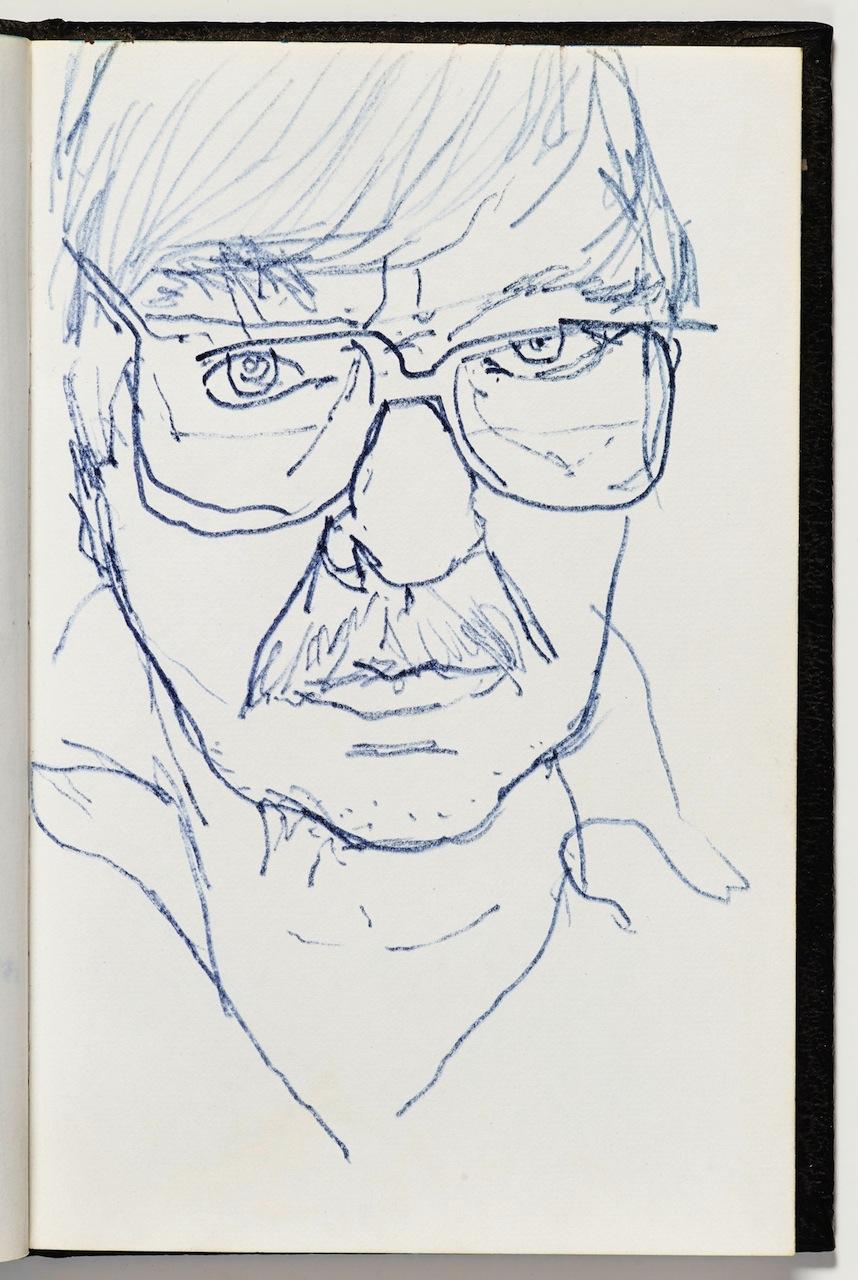 "Richard Diebenkorn, ""Untitled"" from Sketchbook #2, page 37 (1943–1993), felt-tip marker ink on paper (gift of Phyllis Diebenkorn, © The Richard Diebenkorn Foundation)"