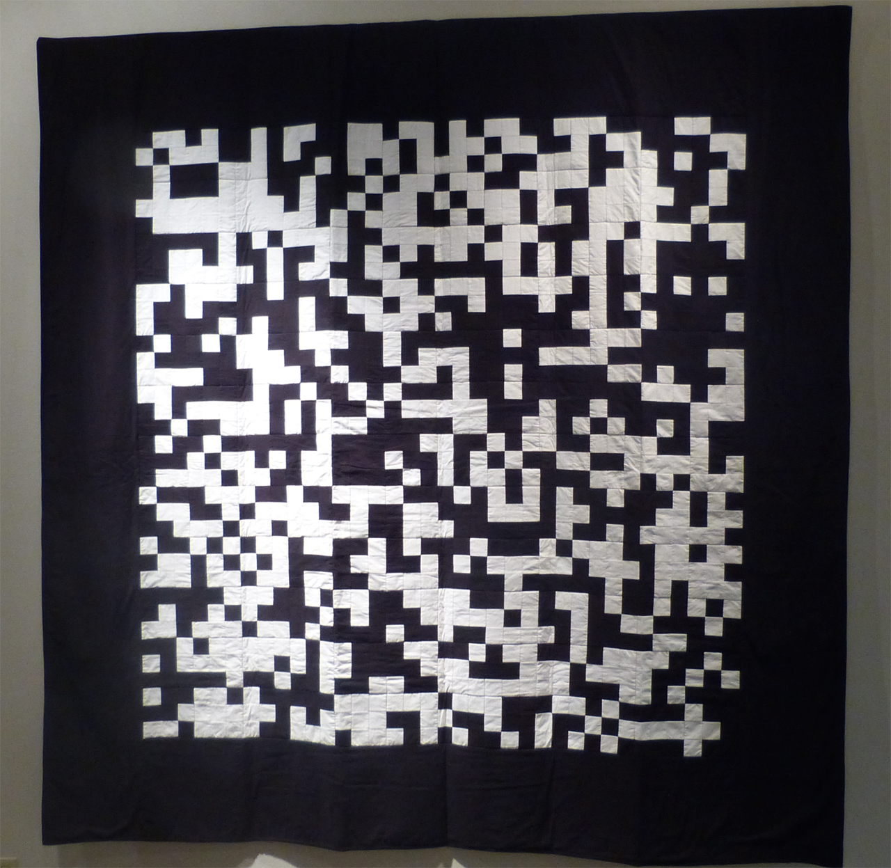 fig 5 John Sims, Pi in Black and White, 2008, 8' x 8', cotton, photograph courtesy of John Sims