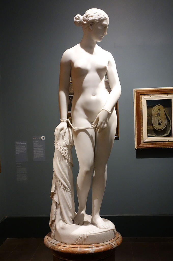 """Greek Slave"" on view at the Brooklyn Museum (photo by Daderot, via Wikimedia)"