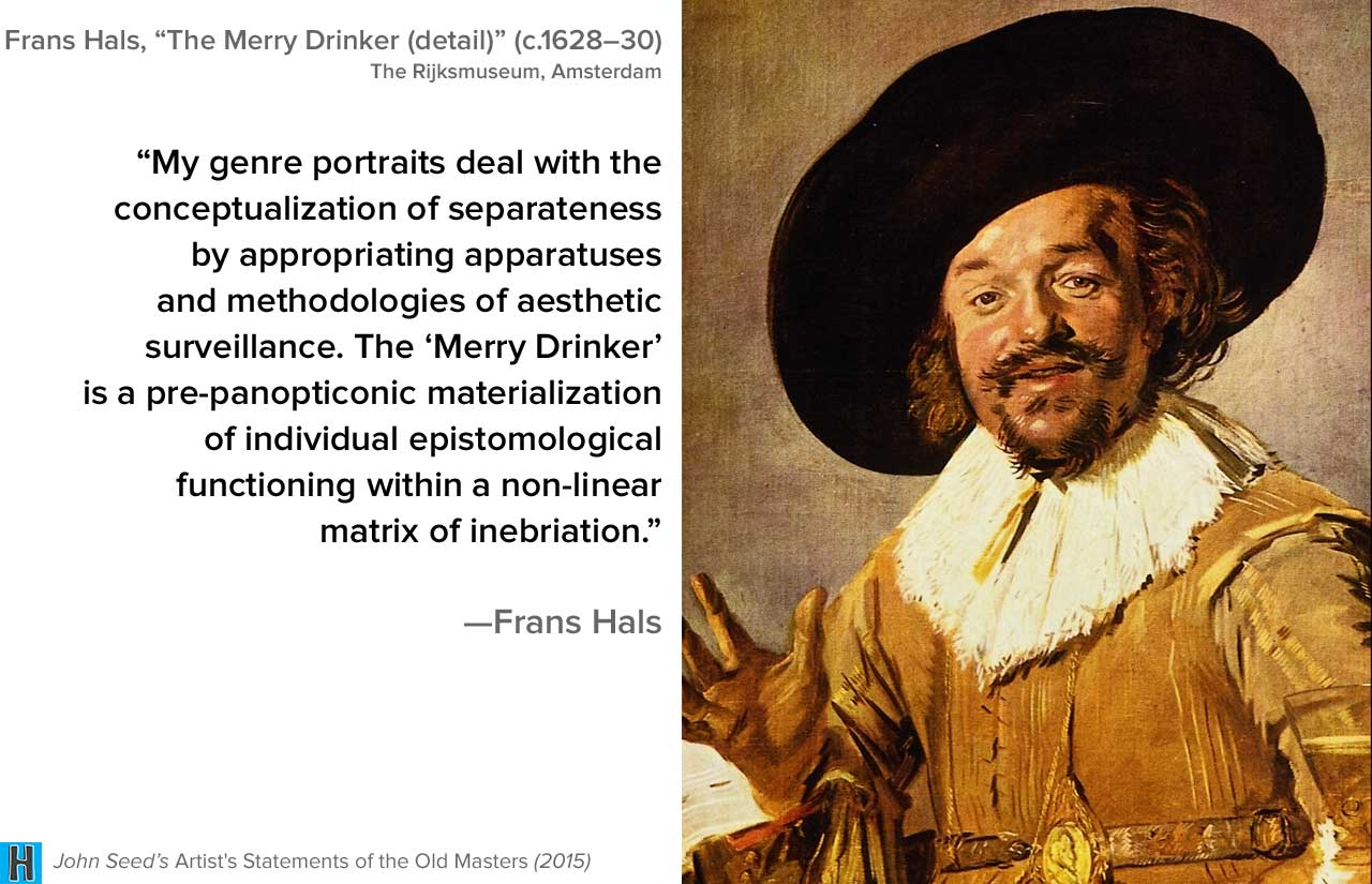 John Seeds Artists Statements Of The Old Masters  Is Available On Amazon