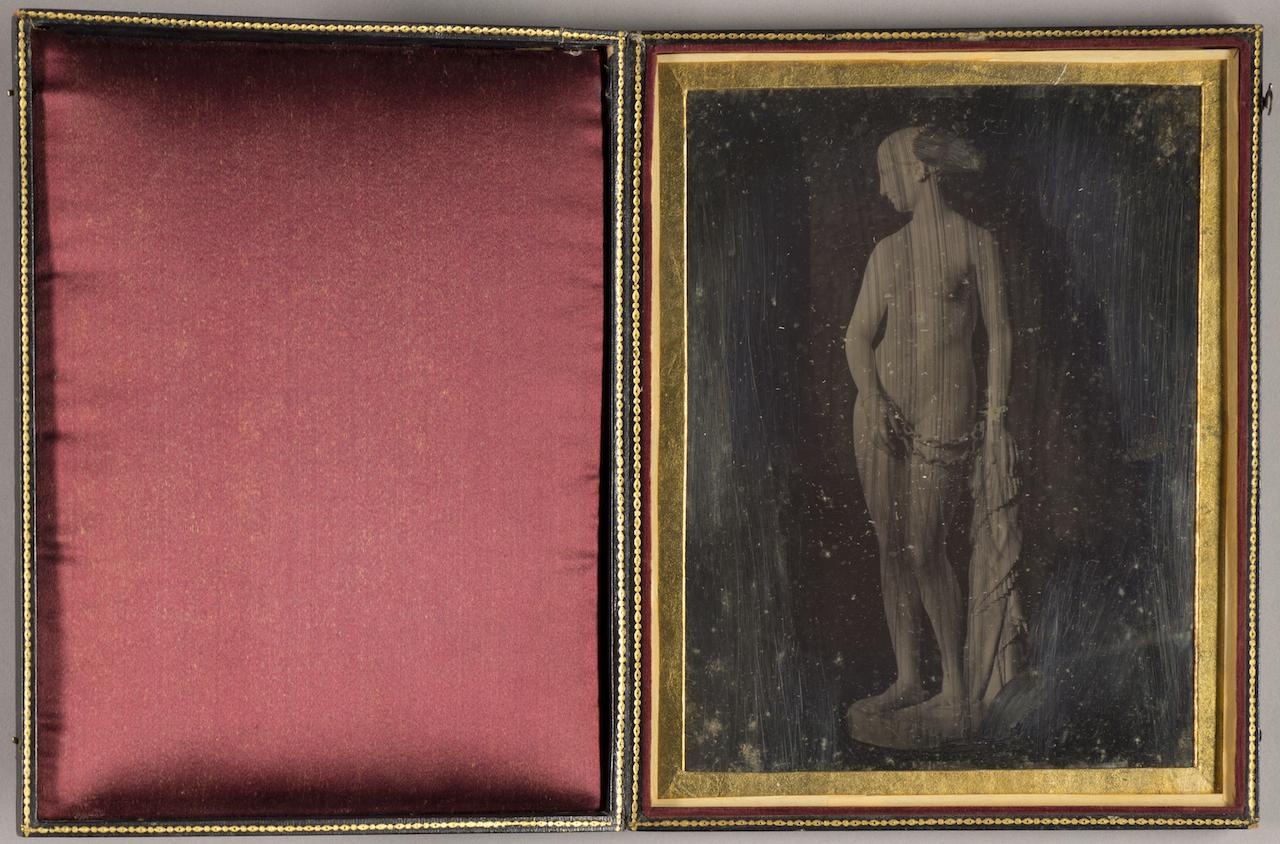 "Hiram Powers, ""The Greek Slave - Daguerreotype"" (1848-49), daguerreotype (courtesy Smithsonian American Art Museum)"