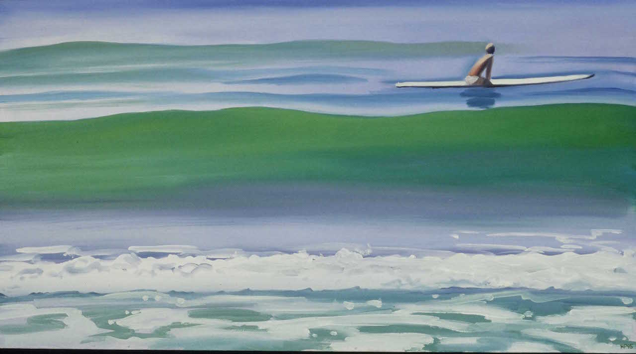 Hank pitcher shawn at sands 1995 oil on canvas 36 x 48