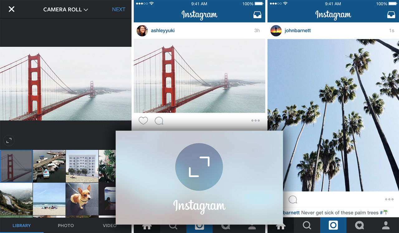 A new feature on the Instagram app allows users to adjust the way images appear. (original images courtesy Instagram)
