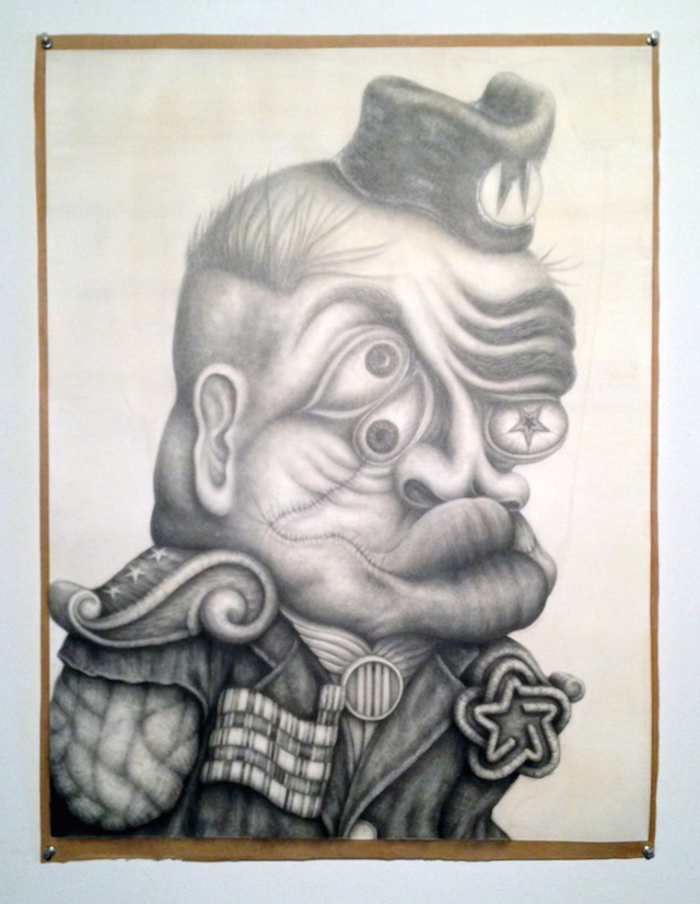 """Frank Magnotta, """"Born on the Fifth"""" (2013), graphite and ink on paper"""