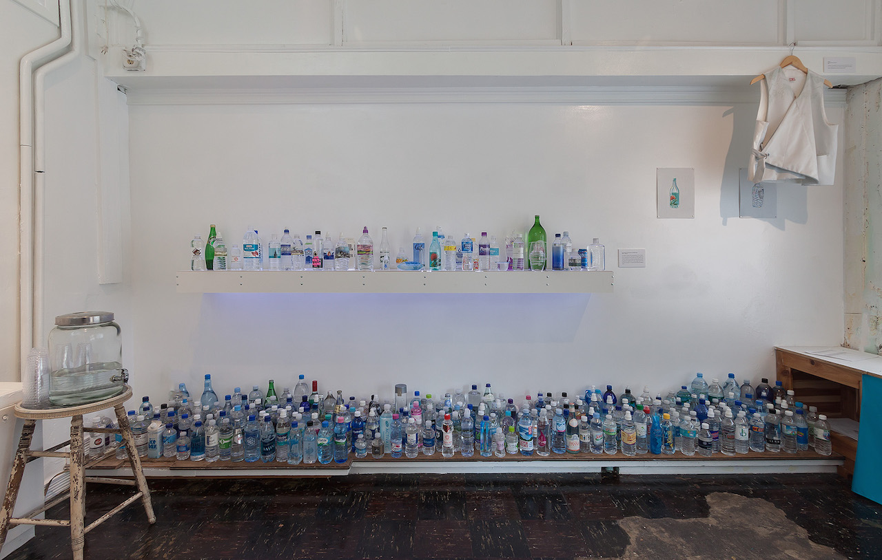 Bottles on display in the Museum of Bottled Water in Kansas City (all photos by EG Schempf, courtesy the Museum of Bottled Water)