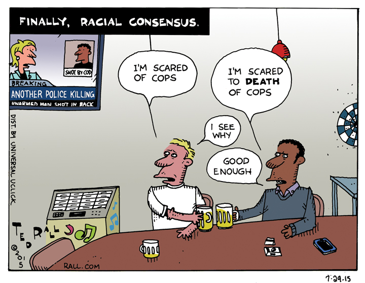 As one story after another breaks of police brutalizing and killing unarmed African-Americans come out, white Americans are beginning to share the fear of police blacks have been living with for decades.