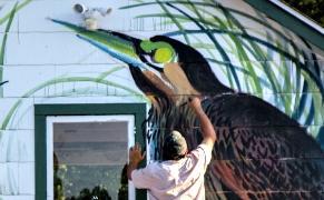 Post image for An Italian Muralist Recreates Audubon's Journey, One Bird at a Time