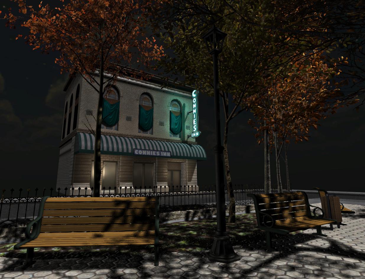 Night scene in 'Virtual Harlem'