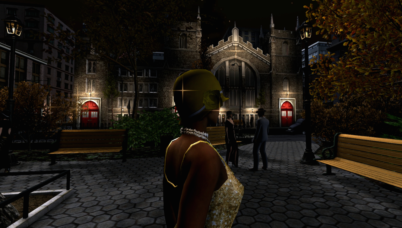 Scene from the virtual reality experience 'Virtual Harlem' (all images courtesy Dr. Bryan Carter)