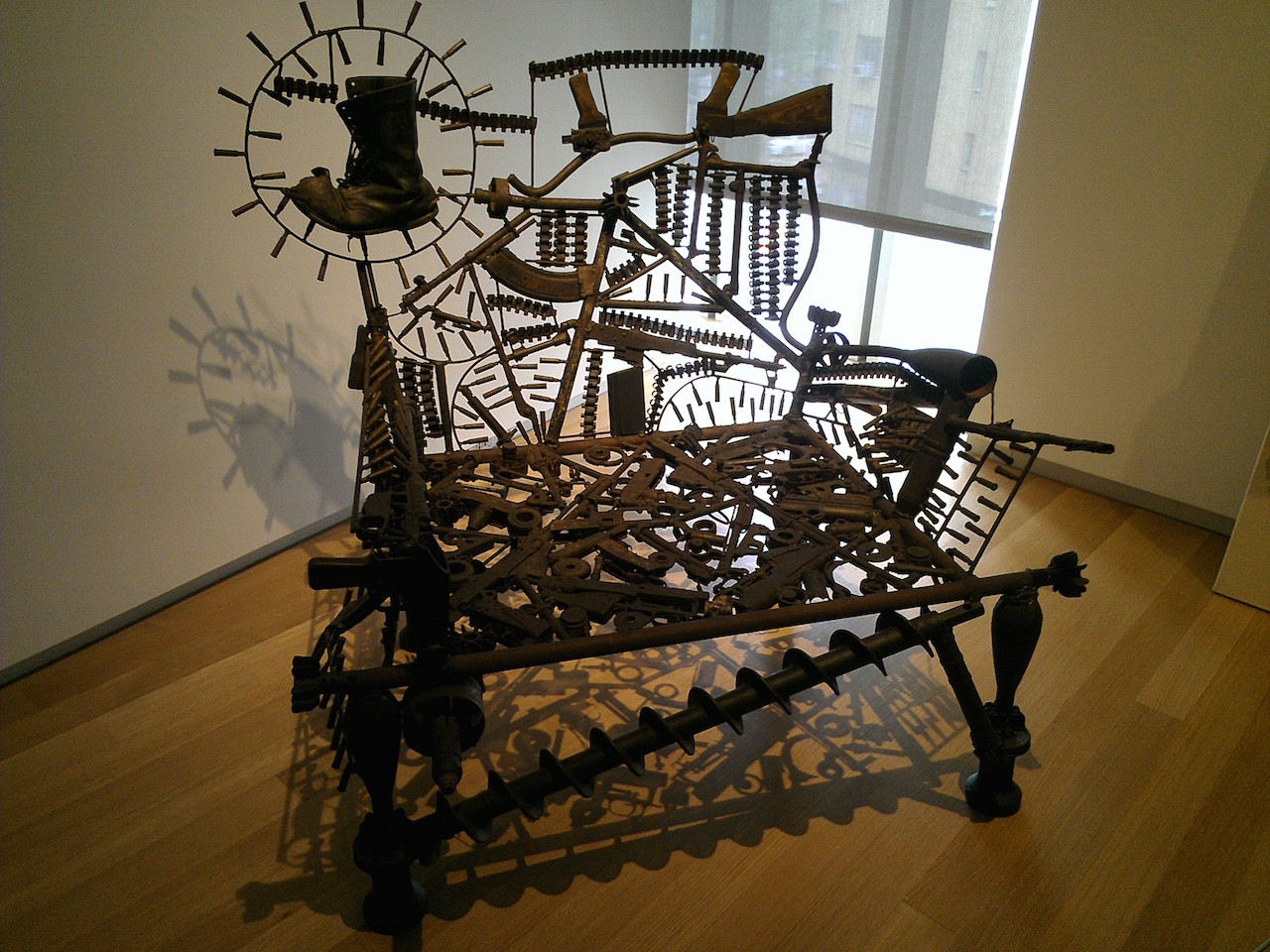 """Goncalo Mabunda's """"Hope Throne"""" (2008) at the Museum of Arts and Design (photo by Karen Green/Flickr) (click to enlarge)"""