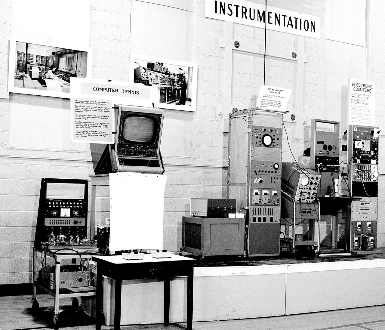 """William Higinbotham, """"Tennis for Two Electronic Game"""" (1958) (image courtesy Brookhaven National Laboratory)"""