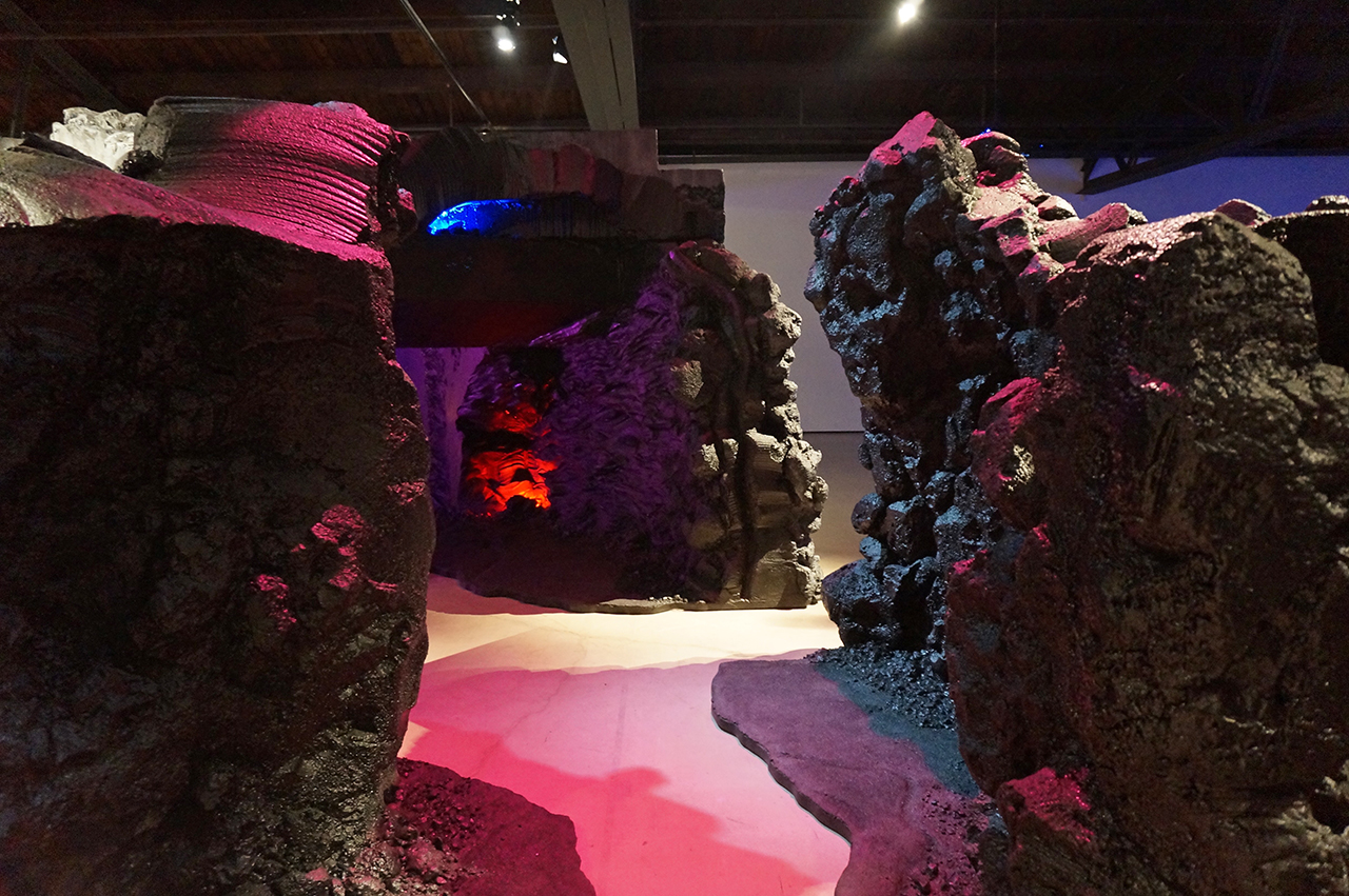 """Mike Kelley, detail of """"Kandor 10B (Exploded Fortress of Solitude)"""" (2011)"""