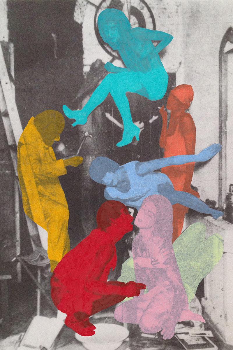 "Kara Jefts, ""Source Image: Dance of Death, Mavo, 1924"" (2015), inkjet print and colored pencil"
