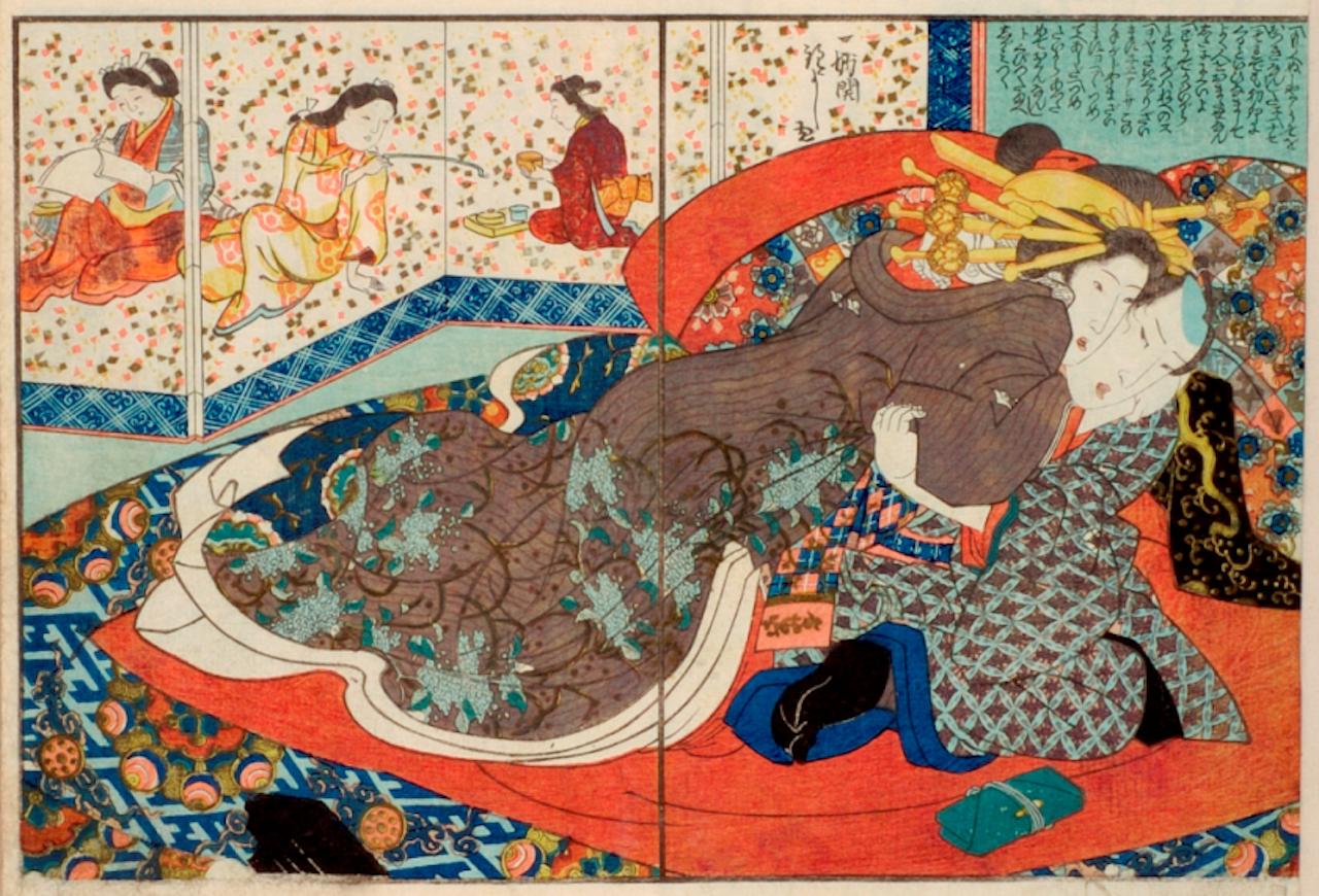 "Utagawa Kuniyoshi, ""Flower Calendar (Hana goyomi)"" (courtesy International Research Center for Japanese Studies)"