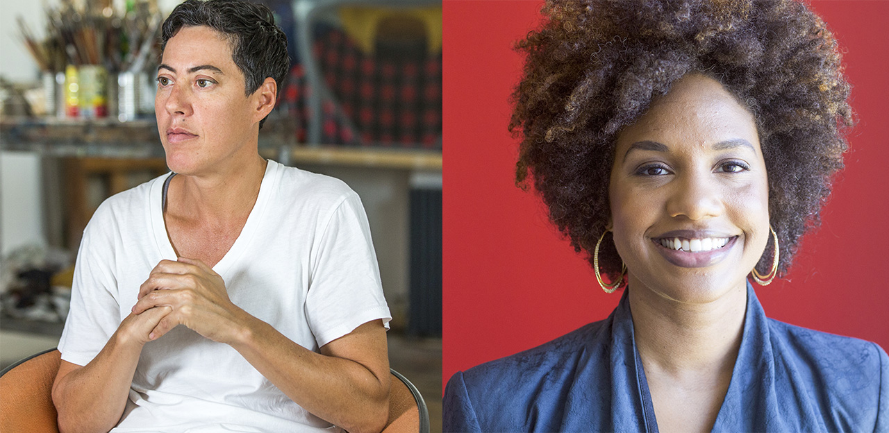 Left, Nicole Eisenman, and, right, LaToya Ruby Frazier. (photo courtesy John D. & Catherine T. MacArthur Foundation)