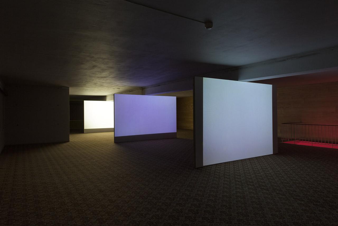 Installation view of work by Fabien Giraud and Raphaël Siboni (photo courtesy LIAF / Jon Benjamin Tallerås)