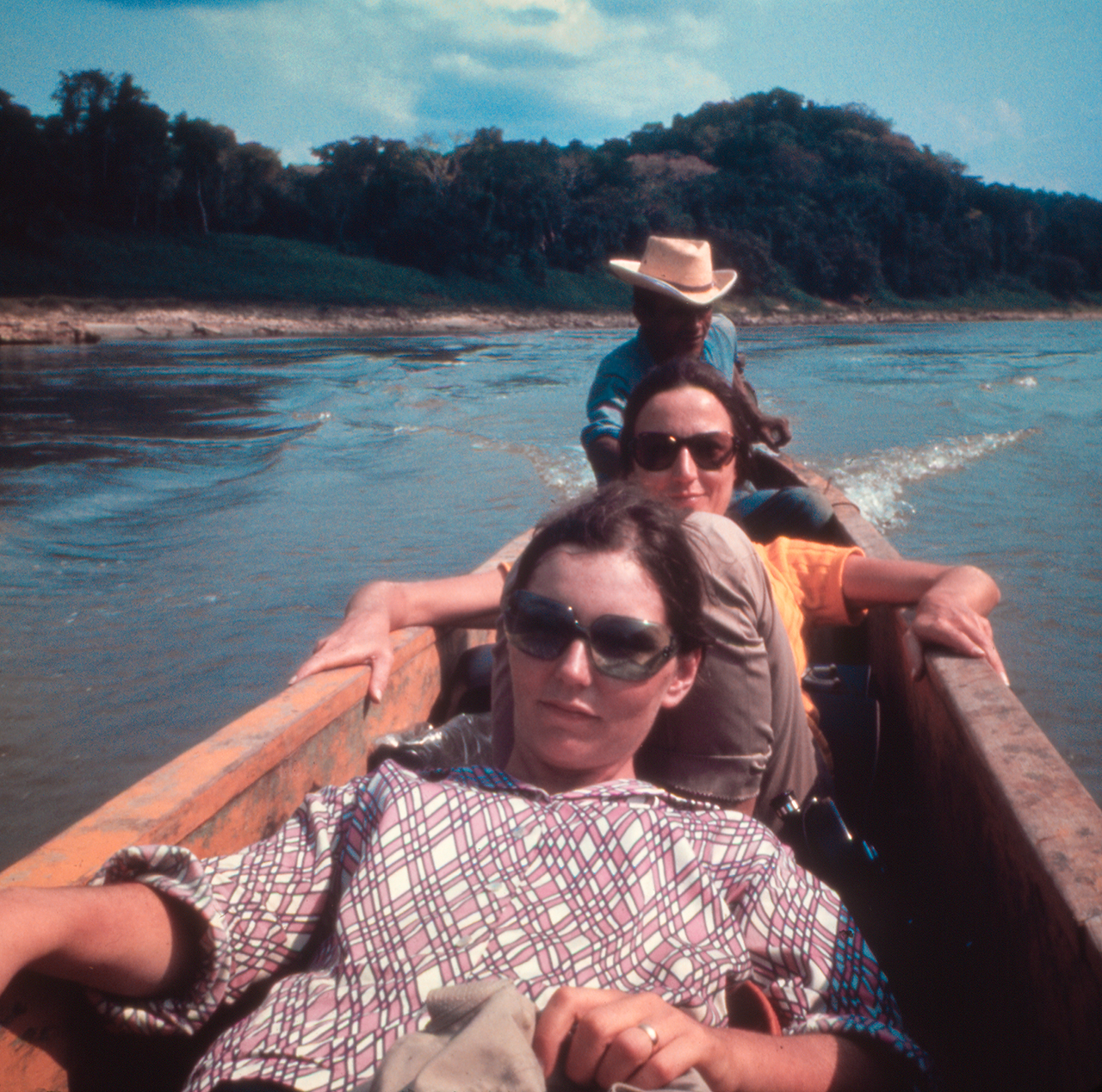 Nancy Holt (front) and Virginia Dwan (middle) in the Yucatán (1969), from 'Troublemakers' (photo © Dwan Gallery Archives, New York, used by premission)