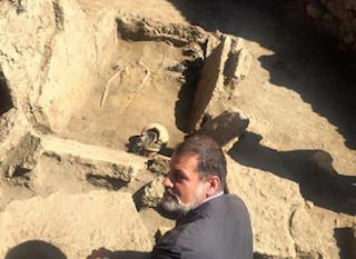 The tomb excavation