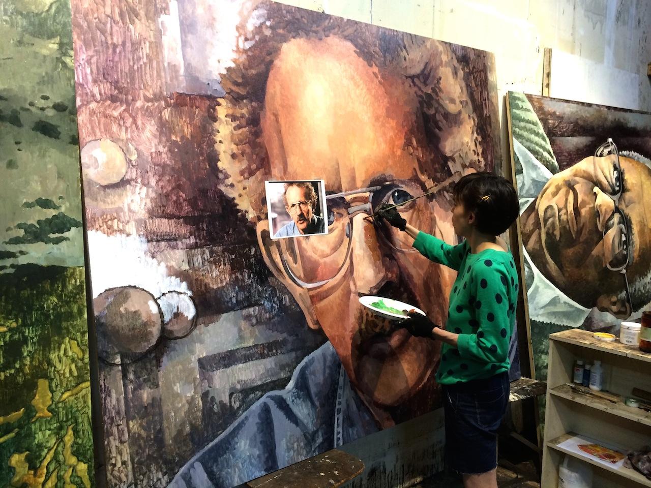 Painting Philip Levine