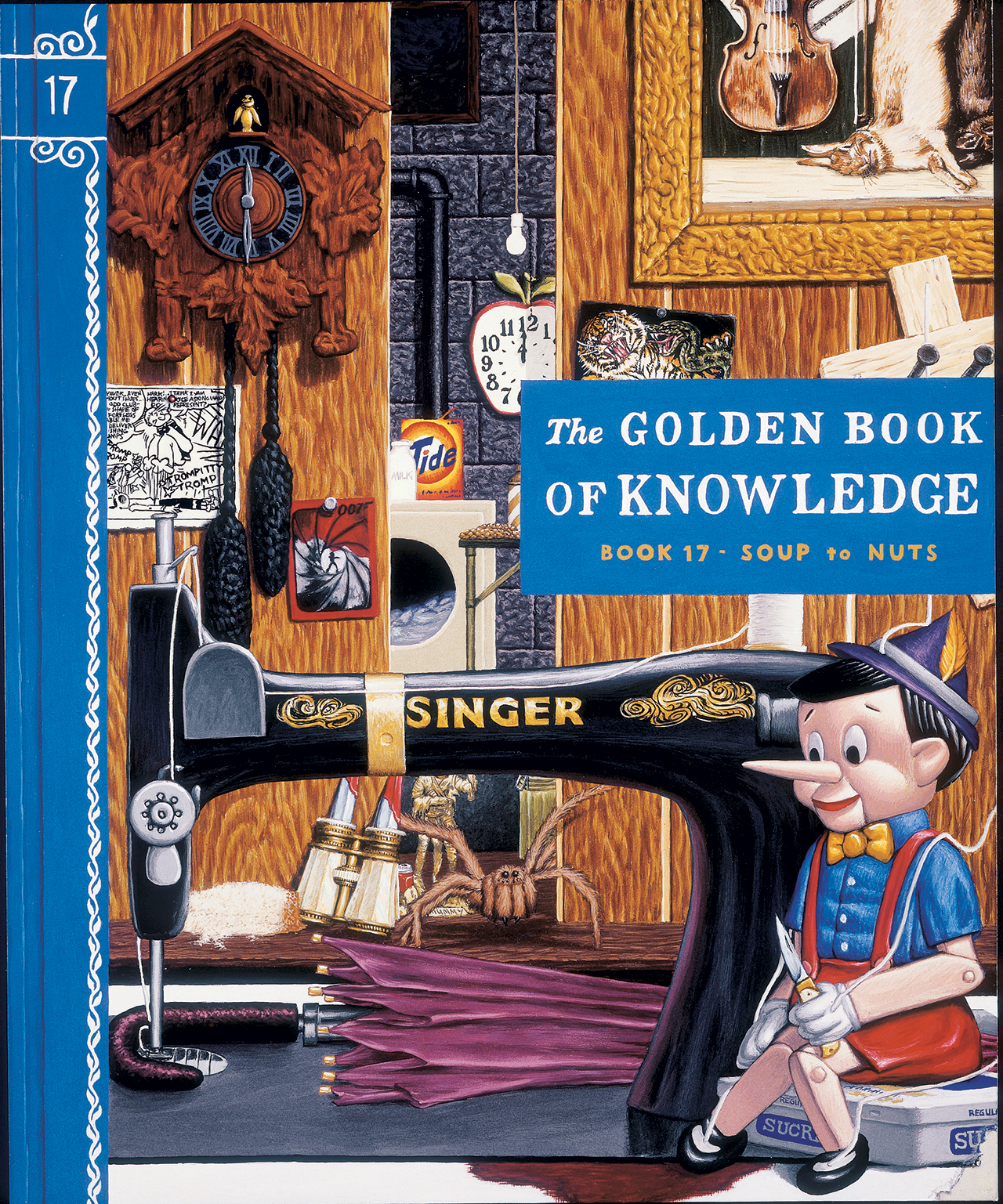 """Jim Shaw, """"The Golden Book of Knowledge"""" (1989), gouache on board, 17 x 14 in (The Eileen Harris Norton Collection, image courtesy the New Museum)"""