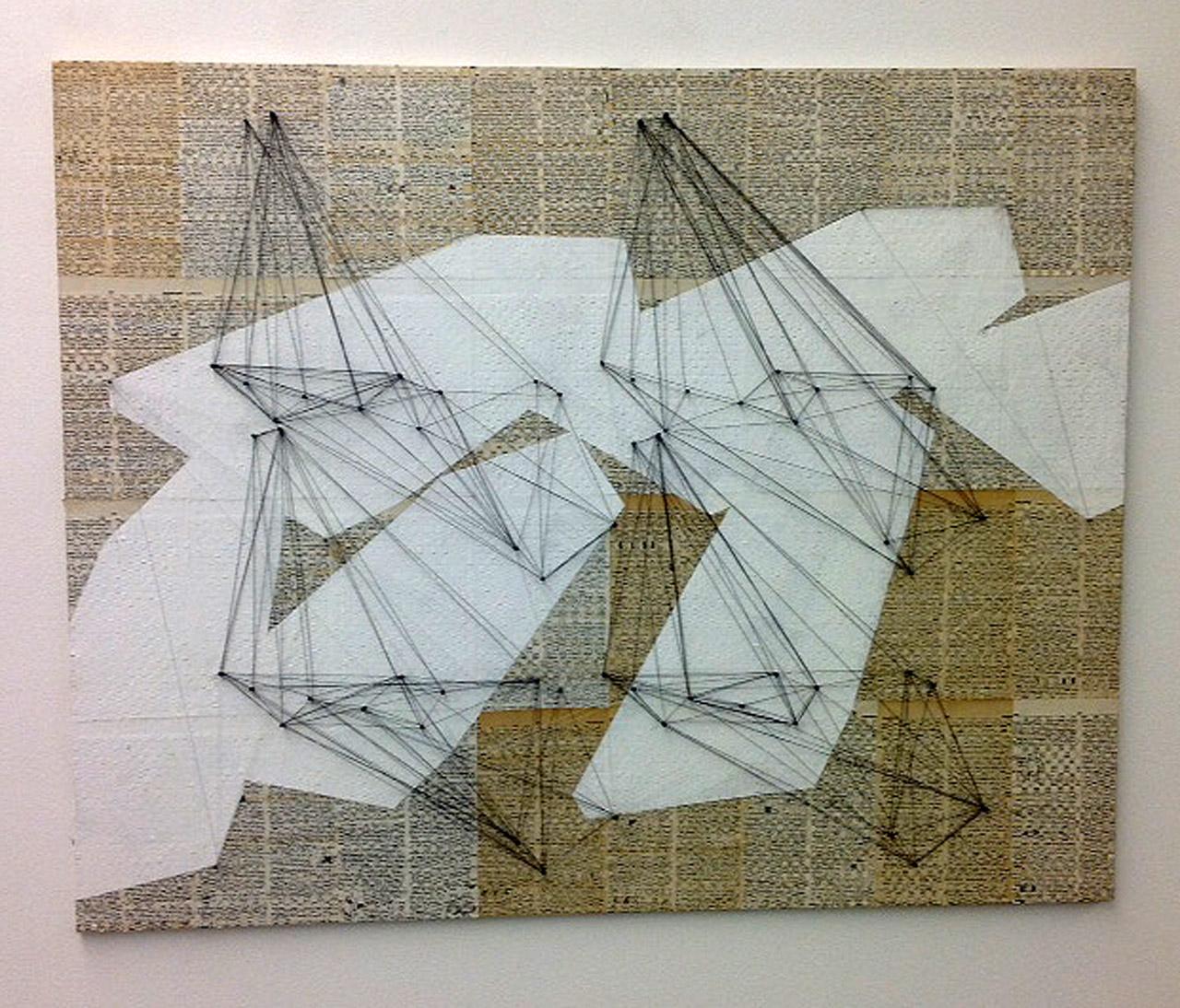 Tarr Hajnalka,, _Untitled_ (2015) mixed technique, 82x102 cm