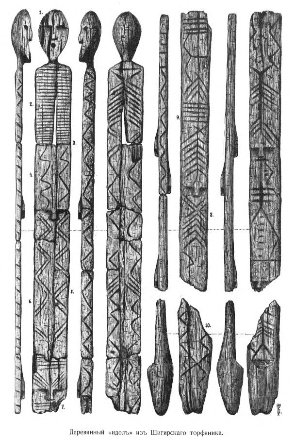 Vladimir Tolmachev's drawings reconfiguring the idol (via Wikipedia)