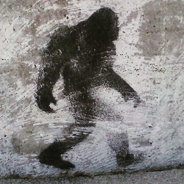 One of Freeman Hatch's Sasquatch stencils (photo by @cycledelic1979/Instagram)