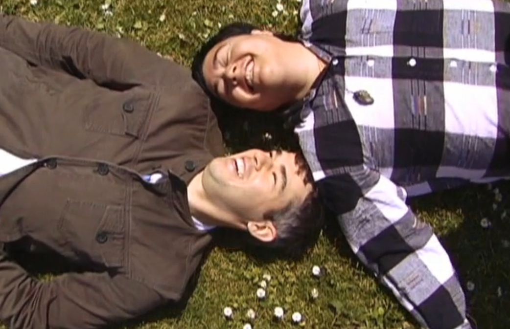 """Screengrab from episode 1 of """"Falling in Love. . . With Christ & Greg."""" Image via their website."""