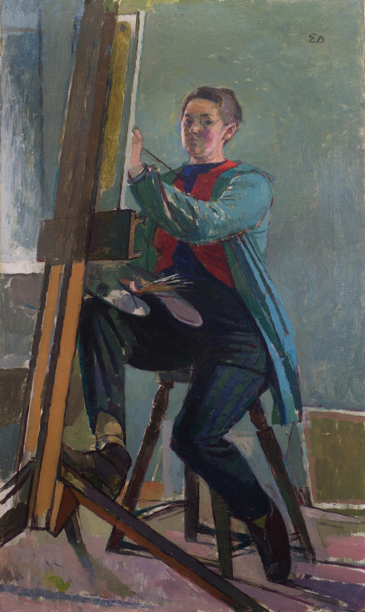 "Evelyn Dunbar, ""Self-portrait"" (nd), oil on canvas (© The Artist's Estate, courtesy of Liss Llewellyn Fine Art)"