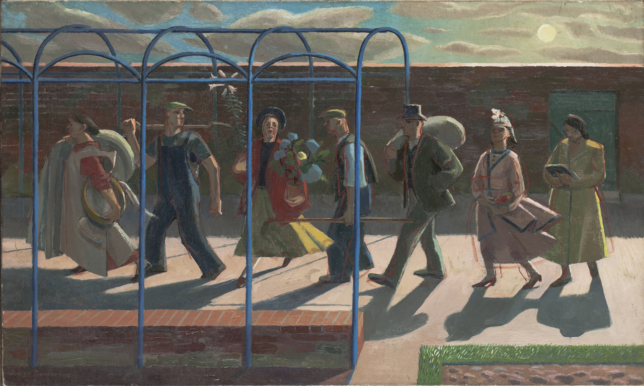 """Evelyn Dunbar, """"The Days of the Week"""" (1939), oil on canvas (© The Artist's Estate, courtesy of Liss Llewellyn Fine Art)"""