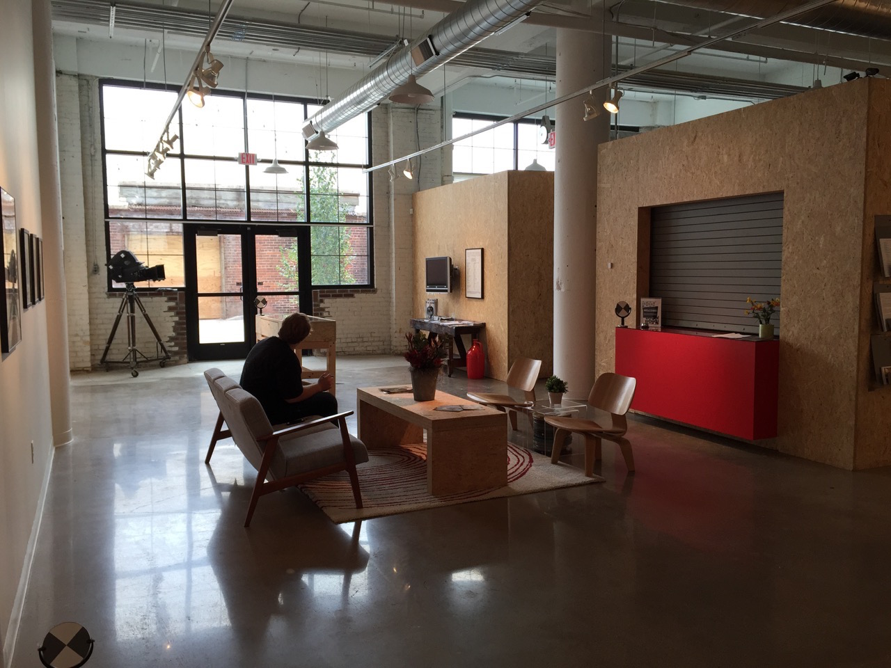 The entrance and lobby area of Independent Filmmaker Project Minnesota's new space (all photos by the author for Hyperallergic unless indicated otherwise)