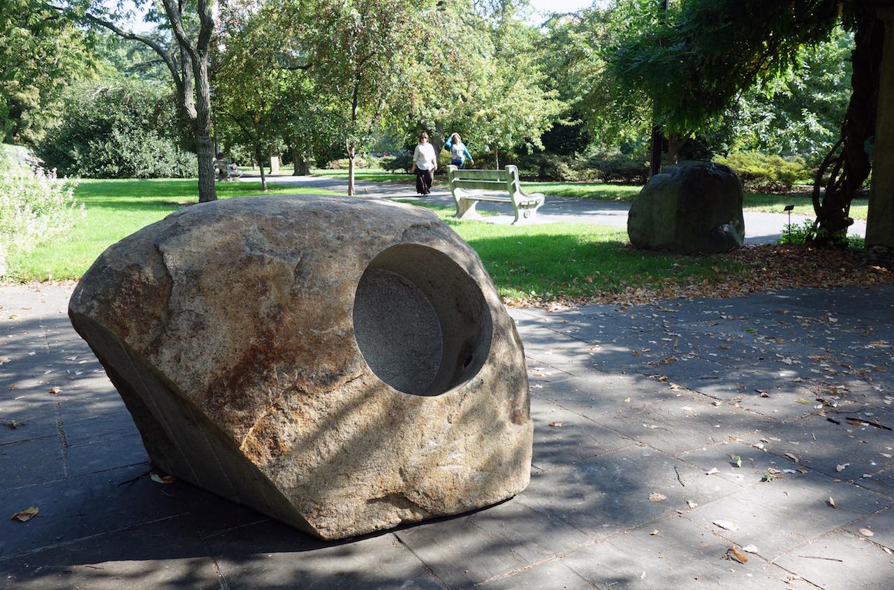 Isamu Noguchi at the Brooklyn Botanic Garden