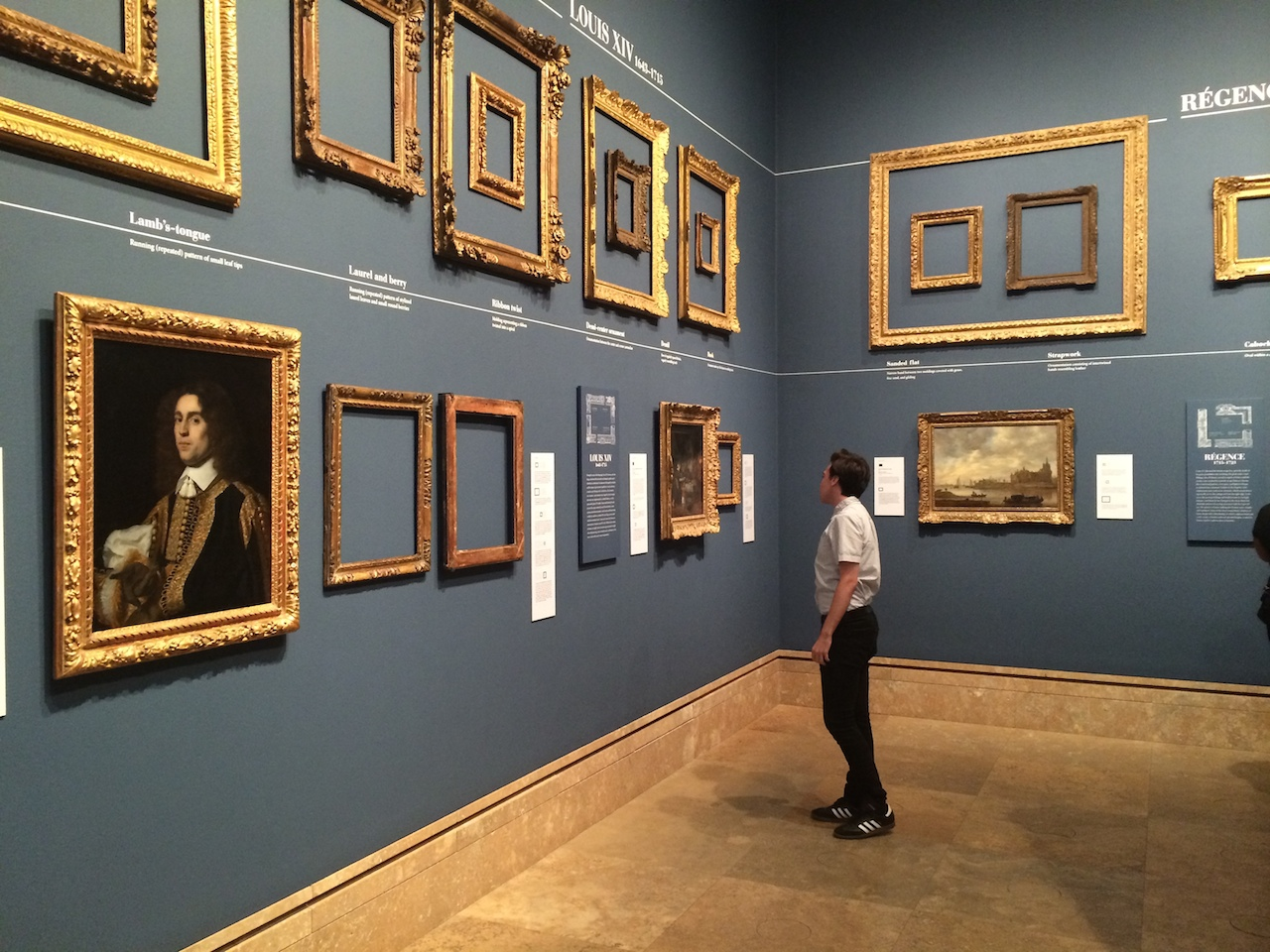 Installation view of 'Louis Style' (courtesy J. Paul Getty Trust, Los Angeles)