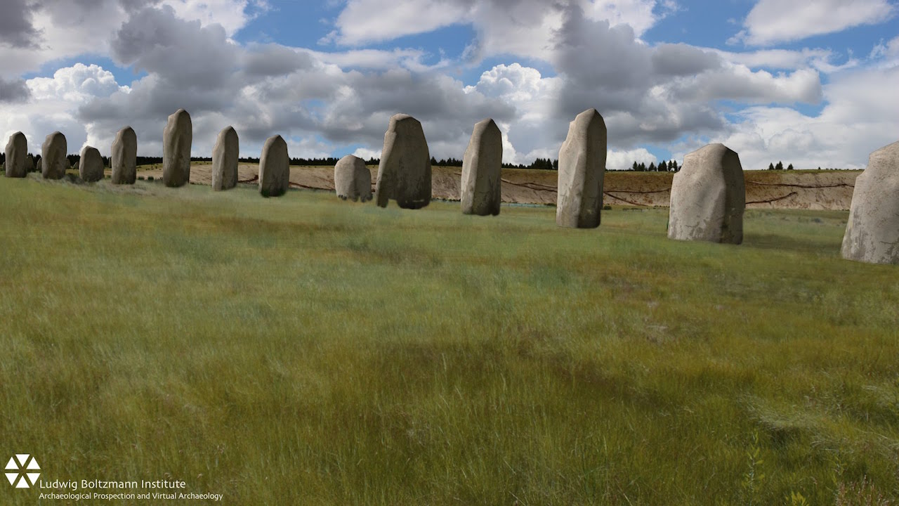 A new stone formation has been discovered just a mile from Stonehenge (Screen grab via Youtube)