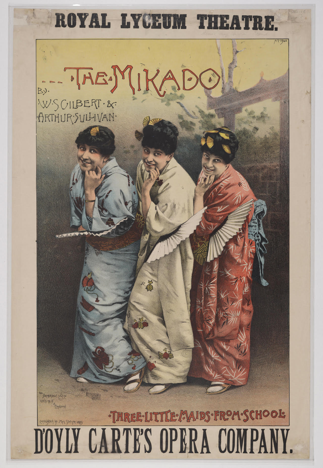 A flyer for an 1885 production of 'The Mikado' in Edinburgh (image via Wikimedia Commons)