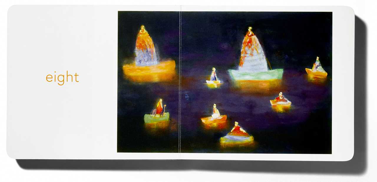 Pages from 'Six' with art by Katherine Bradford (courtesy Home Grown Books)