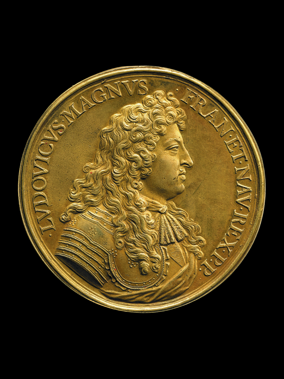 """""""Nec Pluribus Impar,"""" designed by Jean Warin (1672), Louis XIV as the sun warming the Earth, with an inscription stating """"not unequal to many,"""" his motto (© The Trustees of the British Museum)"""