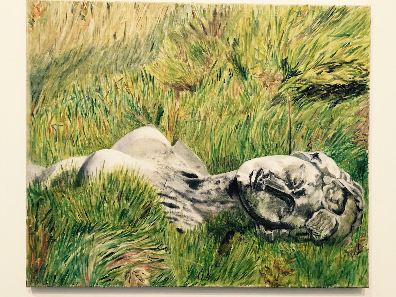 "Sylvia Sleigh, ""Venus in the grass, Crystal Palace Garden"" (1957)"